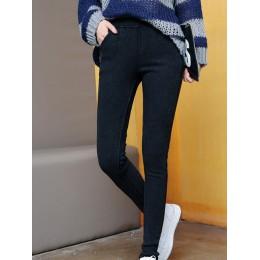 Damskie Plus Size dżinsy zimowe Butt Lift Super wygodne dżinsy Stretch pogrubienie podszyty polarem bardzo ciepłe 5XL 6XL ouc595