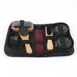 8 sztuk/zestaw Pro zestaw pielęgnacyjny do butów przenośny do butów trampki zestaw czyszczący szczotka połysk narzędzie do poler
