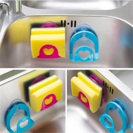 Przyssawka kuchnia gąbka do zlewu stelaż półki uchwyt wielofunkcyjny półka łazienkowa ręcznik mydelniczka Organizer do kuchni co