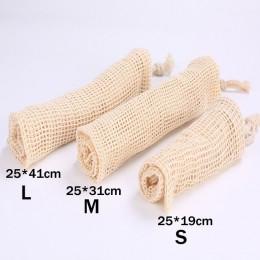 Siatki bawełniane worki warzywne produkują torby wielokrotnego użytku siatka bawełniana worek do przechowywania warzyw kuchenny