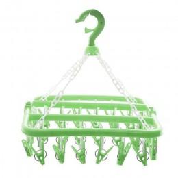 32 klipsy wielofunkcyjne składane skarpetki wieszak Rack Clothespin suszarka do prania skarpety majtki wieszak do przechowywania