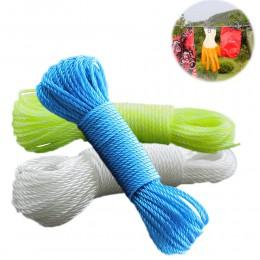 10 m/20 m sznurki długie kolorowe Nylon liny wspinaczka przyczepność wiązania cień netto bielizny narzędzia ogrodowe