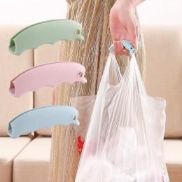 2pc torba na zakupy silikonowy uchwyt do podnoszenia uchwyt rękojeści łatwe w przenoszeniu narzędzie antypoślizgowe rowki nośnik