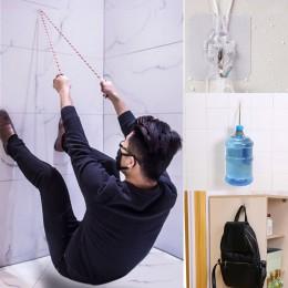 10 sztuk silna przyssawka siebie haki trzymać lepkie wieszaki ścienne kuchnia łazienka wielofunkcyjny przylepny hak drzwi bez po