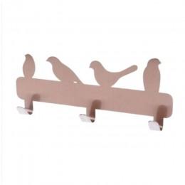 3 haki w kształcie ptaka ścienny ze stali nierdzewnej łazienka wykrawania-darmowe wieszak na ubrania łazienka wiszące Peg na ręc