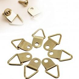 20 sztuk złoty trójkąt d-ring obraz na ścianę obraz olejny lustro rama haki wieszaki