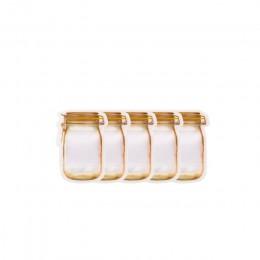 Wielokrotnego użytku słój na przetwory butelki torby orzechy cukierki torba na ciasteczka pieczęć torba do przechowywania świeże