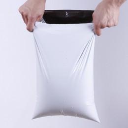 50 sztuk/partii biały torba kurierska koperta z torby do przechowywania torba listonoszka torebki wysyłkowe siebie uszczelka sam