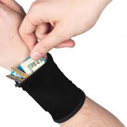 Zewnętrzna opaska na nadgarstek z kluczem/torba na karty portfel bezpieczeństwa etui na zamek do przechowywania kostki Wrap pase