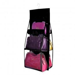 6 wisząca kieszeń torebka Organizer do szafy szafa przezroczysta torba do przechowywania drzwi ściana wyczyść różne torba na but