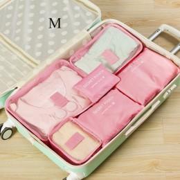 DLYLDQH marka 6 sztuk podróżny zestaw do przechowywania na ubrania Tidy organizator etui walizka domu przekładki do szafy pojemn