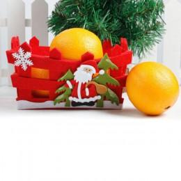 Najnowszy boże narodzenie słodycze owoce kosz przechowywania pojemnik Box Home Decor prezenty bożonarodzeniowe 2 style