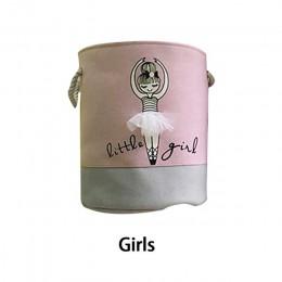 Pralnia koszyk Organizer różowe zabawki Organizer etui na pokój dziewczyn brudne ubrania pojemnik przechowywanie w domu rozmaito