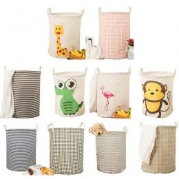Praktyczne okrągły kosz na pranie geometryczne kosz na bieliznę składane miejsce do przechowywania pojemnik na ubrania zabawki s