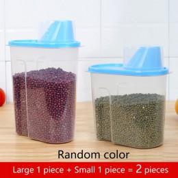 PP pudełko do przechowywania żywności plastikowy przezroczysty pojemnik zestaw z pokrywkami wlać butelki do przechowywania kuchn