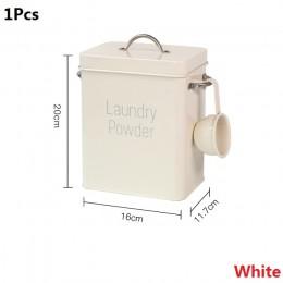 3Kg małe wielofunkcyjne akcesoria domowe nowy proszek do prania ryż schowek żelazo gruzu przekąski pokryte wiadro beczki łyżka