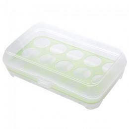 Przybory kuchenne 15 siatka przezroczyste pudełko do lodówki na jajka przenośne zewnętrzne antykolizyjne jajko plastikowe pudełk
