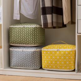 Nowa duża bawełniana pościel składana torba do przechowywania przechowywanie w domu organizacja kołdra pudełko do przechowywania