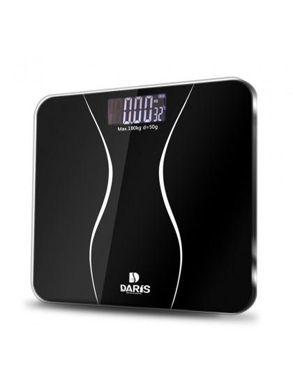 SDARISB wagi łazienkowe podłogowe ciała inteligentny elektryczny waga cyfrowa zdrowia skala balansu szkło hartowane wyświetlacz