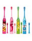 Dzieci Cartoon ultradźwiękowy wodoodporna elektryczna szczoteczka do zębów domu miękkie włosy dwustronne czyste szczoteczka do z