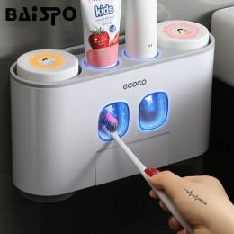 BAISPO łazienka automatyczny dozownik pasty do zębów pasta do zębów wyciskacz pasta na ścianę uchwyt na szczoteczki do zębów zes