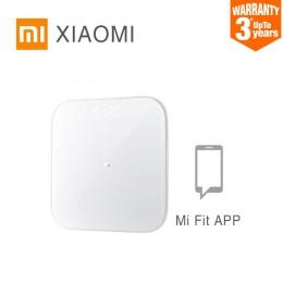 XIAOMI MIJIA Mi inteligentna waga 2 elektroniczna cyfrowa łazienka wagi podłogowe waga ciała ekran LED Bluetooth Mifit APP 150kg