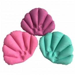 Poduszka do kąpieli z przyssawkami nadmuchiwana frotte w kształcie wachlarza poduszka wspomagająca szyję miękka poduszka do kąpi