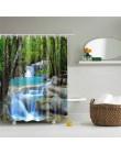 Drzewa leśne drukowane kurtyny kąpielowe 3d wodoodporna tkanina poliestrowa zmywalna łazienka zasłona prysznicowa z akcesoriami
