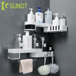 GUNOT Corner półka po prysznic kreatywny bez szwu obrotowy statyw do domu do montażu na ścianie regał magazynowy wielofunkcyjne