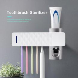 Houkiper łazienka automatyczny dozownik pasty do zębów sterylizator światło ultrafioletowe pasta do zębów ultrafioletowe wyciska