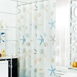 Nowa łazienka wodoodporna odporne na pleśń zasłona prysznicowa z 12 sztuk haki do zasłon pierścienie 180cm * 200cm