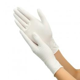 100 szt. Jednorazowe rękawice lateksowe białe antypoślizgowe rękawice lateksowe z gumy kwasowej i alkalicznej gospodarstwa domow