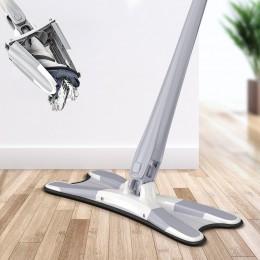 X typu Mop podłogowy z 3 sztuk wielokrotnego użytku podkładki z mikrofibry do 360 stopni płaski Mop dla domu wymień bez użycia r
