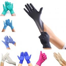 100 sztuk 9 kolorów jednorazowe rękawice lateksowe zmywanie naczyń/kuchnia/medyczne/praca/guma/rękawice ogrodowe uniwersalne dla