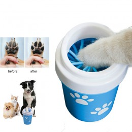 Dog Paw Cleaner Cup na małe duże psy domowe podkładki pod stopy przenośny kot domowy brudny łapa do czyszczenia kubka miękkie si