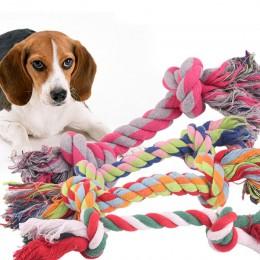 18cm zabawkowa linka bawełniana dla psa Puppy Cat supeł do gryzienia trwałe pleciona kość liny czyszczenie zębów zabawka gryzak