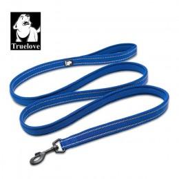 Truelove miękka siatka nylonowa smycz dla psa podwójna Trickness Running odblaskowe bezpieczne chodzenie szkolenia Pet Dog smycz