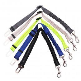 Ulepszony regulowany pas bezpieczeństwa dla psa szelki samochodowe dla psa prowadzi elastyczna odblaskowa lina ratunkowa akcesor