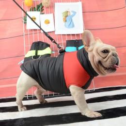 Wodoodporny buldog francuski dużego psa kamizelka zimowe ciepłe ubrania dla psów dla małych i dużych psów Puppy mops płaszcz psy
