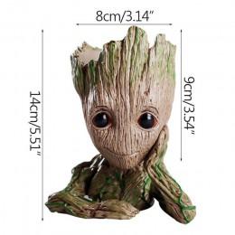 Strongwell Baby doniczka Groot doniczka kwiatowa figurki drzewo człowiek śliczny zabawkowy Model długopis doniczka ogrodowa doni