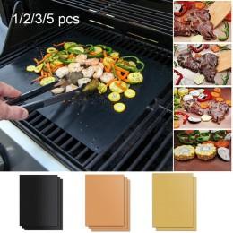 2020New 3 kolor Ptfe non-stick grill Pad grill podkładka do pieczenia wielokrotnego użytku teflonowa płyta do gotowania 40*33cm