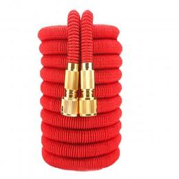 Wysokiej jakości 25FT-100FT wąż ogrodowy teleskopowy wąż magiczny plastikowy elastyczny wąż do mycia samochodu metalowy pistolet