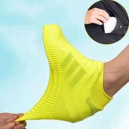 Wodoodporny pokrowiec na buty materiał silikonowy Unisex buty ochraniacze kalosze na kryty odkryty deszczowe dni