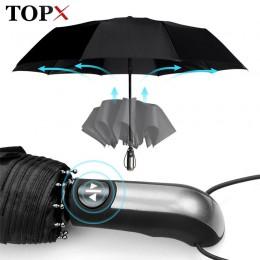 Odporny na wiatr w pełni automatyczny Parasol deszcz kobiety dla mężczyzn 3 składany prezent Parasol kompaktowy duży podróż bizn