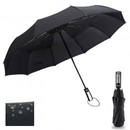 Odporne na wiatr potrójne Parasol automatyczny deszcz kobiety Auto luksusowe duże wiatroszczelne parasole mężczyźni rama wiatros