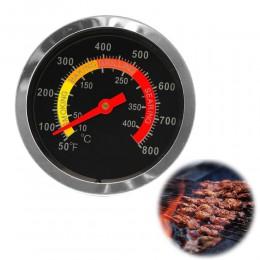 Nowa stal nierdzewna grill do wędzenia termometr grillowy wskaźnik temperatury 10-400Degrees stopni celsjusza
