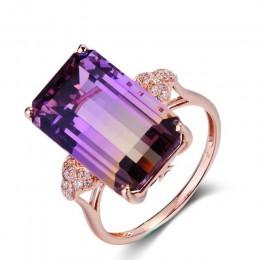 Cellacity luksusowe 925 srebrny pierścień biżuteria z prostokąt turmalin kamień zaręczynowy Wedding Party biżuteria rocznica
