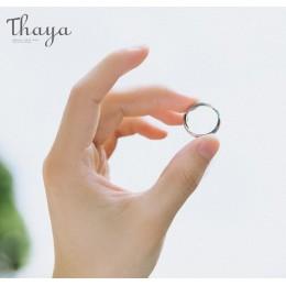 Thaya S925 srebrne pierścionki dla par drugi brzeg Starry Design pierścionki dla kobiet mężczyzn Resizable Symbol miłość biżuter