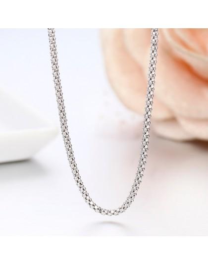 """Windshow 14 """"-32"""" 925 srebro łańcuch popcorn krótki Choker naszyjnik kobiety biżuteria dziewczęca Colar Collier Collares Mujer K"""