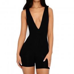 NewAsia Plunge bawełniany kombinezon Plus rozmiar Sexy Body kobiety Playsuit Body Feminino kombinezony damskie pajacyki kombinez